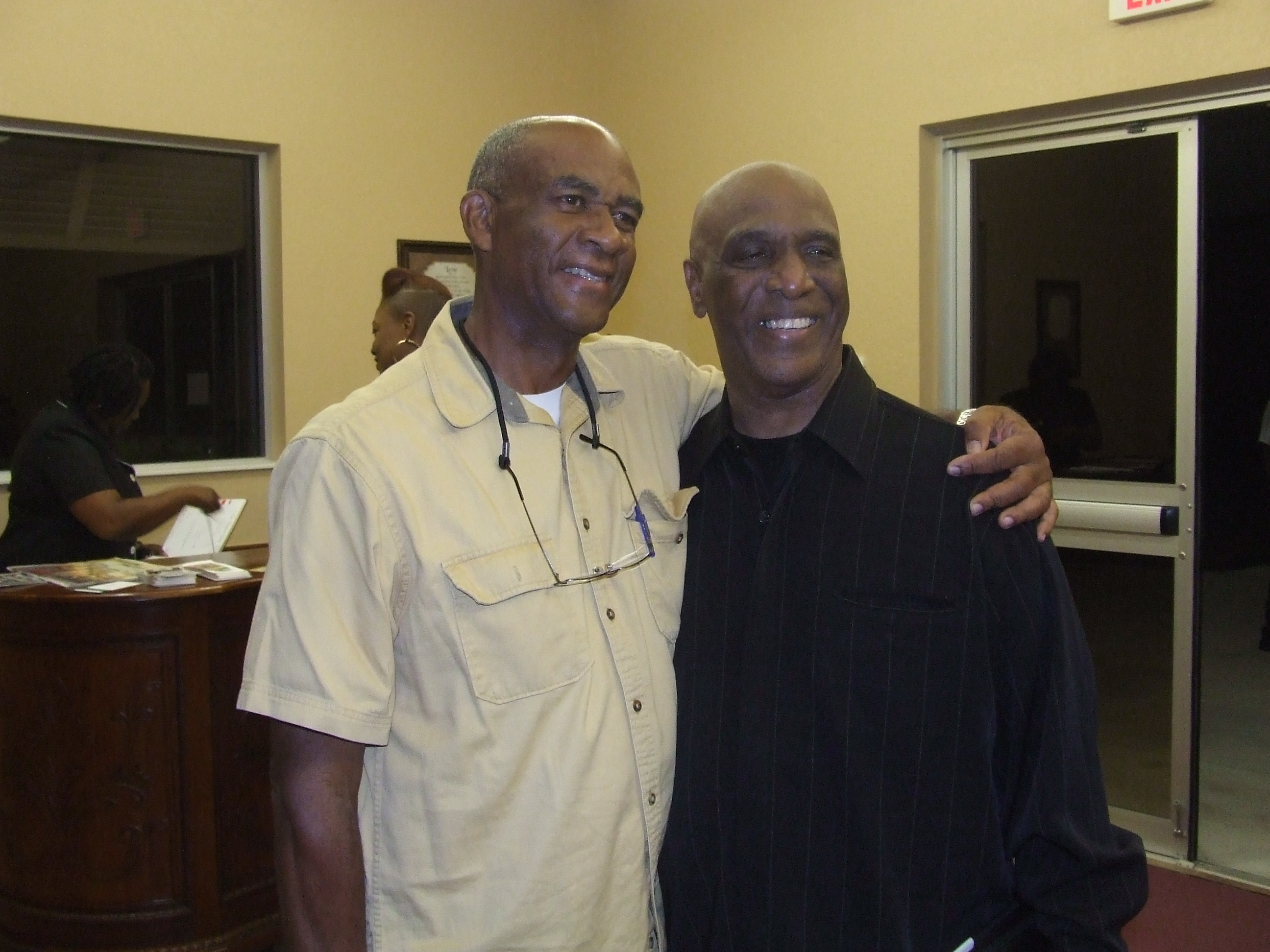 two men posing for a picture