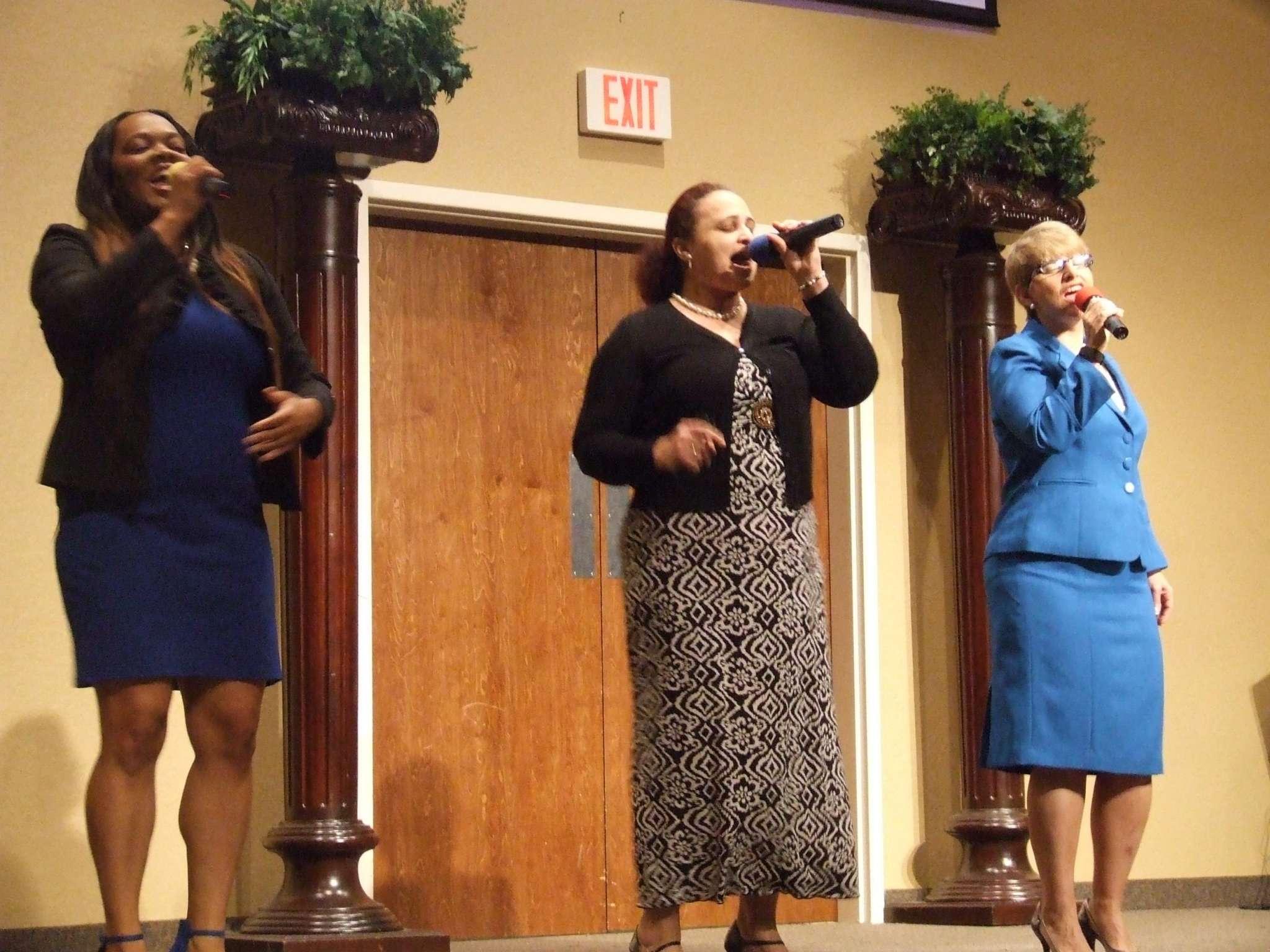 Praise and worship team singing