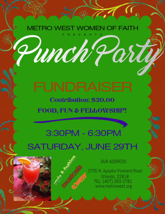 Tea Party Fundraiser Flyer - Made with PosterMyWall